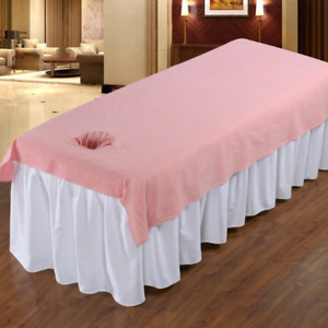 Beauty Salon Massage SPA Couch Cover Soft Cotton Bed Cover With Face Breath Hole