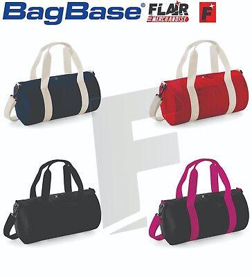 5-Colour Bagbase Mini Barrel Bag