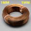 1mm-Aluminium-Craft-Florist-Wire-Jewellery-Making-Saddle-Brown-10m-lengths miniatuur 1