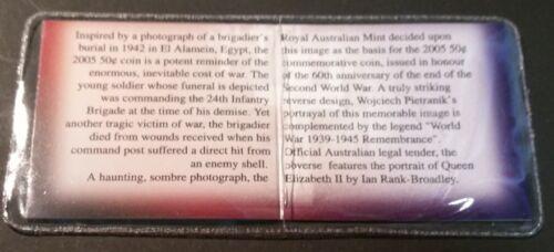 AUSTRALIA • 50c • 2005 • Remembrance • aUnc.//Unc in private company packaging