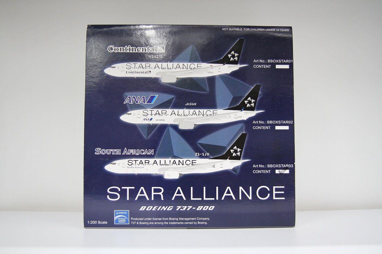 bleuBOX South African Airways SAA Star Alliance Boeing 737-800 ZS-SJV bboxstar 03