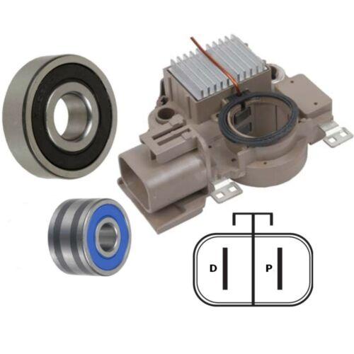 Brushes /& NTN Bearings Alternator Rebuild Kit for 97-01 Mazda Protege Regulator