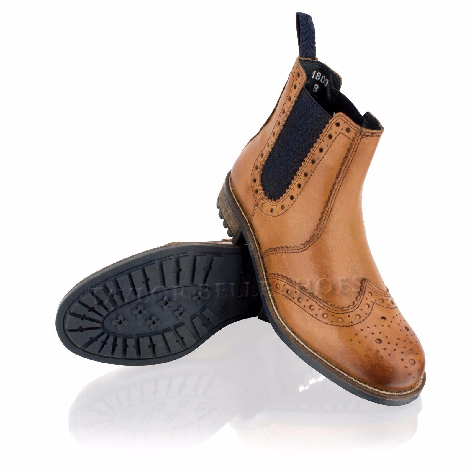 Da Uomo in Pelle CALATA Rivenditore Chelsea Casual Eleganti Scarpe Alla Caviglia Marrone Stivali Scarpe Eleganti 0c5f43