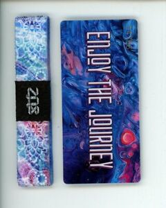 Medium ZOX Silver Strap INTO THE WILD Wristband with Card Reversible