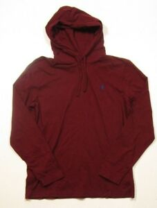 873f615f Details about Polo Ralph Lauren Men's Red/Burgundy Pullover Hooded T-Shirt