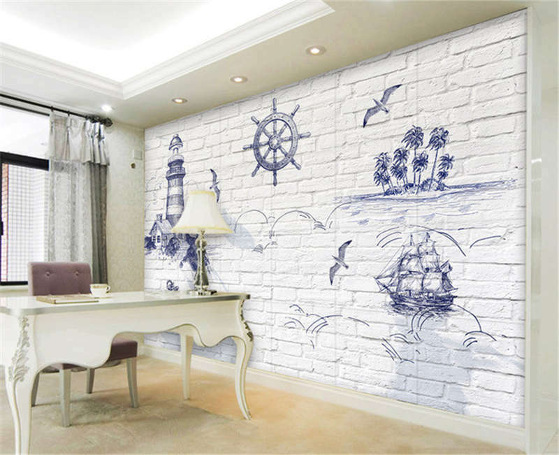 Abstract Island 3D Full Wall Mural Photo Wallpaper Printing Home Kids Decor