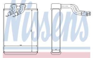 intérieur chauffage 77610 pour HYUNDAI Nissens échangeur de chaleur