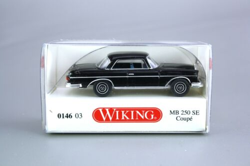 Wiking h0 1:87 modelo de coche mercedes benz 250 se negro 0146 03 nos nuevo embalaje original