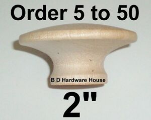 Large-2-034-Birch-Hard-Wood-Cabinet-Pulls-Drawer-Knobs-Select-Option-5-to-50