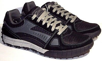 New Skechers S Sport memory foam Lace up leather & textile men's sneakers shoes