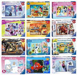Kids-Ravensburger-Disney-3x49-Piece-Jigsaw-Puzzle-Fun-Game-Brand-New-Gift-Idea