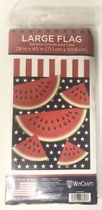 """WATERMELON  2-SIDED LARGE HOUSE FLAG 28/"""" X 40/"""" by WinCraft Brand New Made In USA"""
