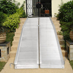 Image Is Loading 7 039 Aluminum Fold Portable Wheelchair Ramp Mobility