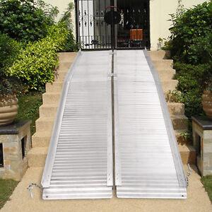 7 aluminum fold portable wheelchair ramp mobility handicap suitcase