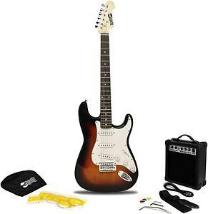 E-chitarra rockjam chitarra corde strumento Sunburst Strumento Set senza imballaggio originale