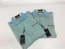 Lot 2 Men's Callaway BMW Championship Golf Polo Shirts Blue Striped Nwt Small S