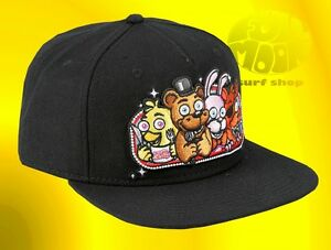 New-Five-Nights-at-Freddy-039-s-Fazbears-Pizza-Black-Men-039-s-Snapback-Cap-Hat