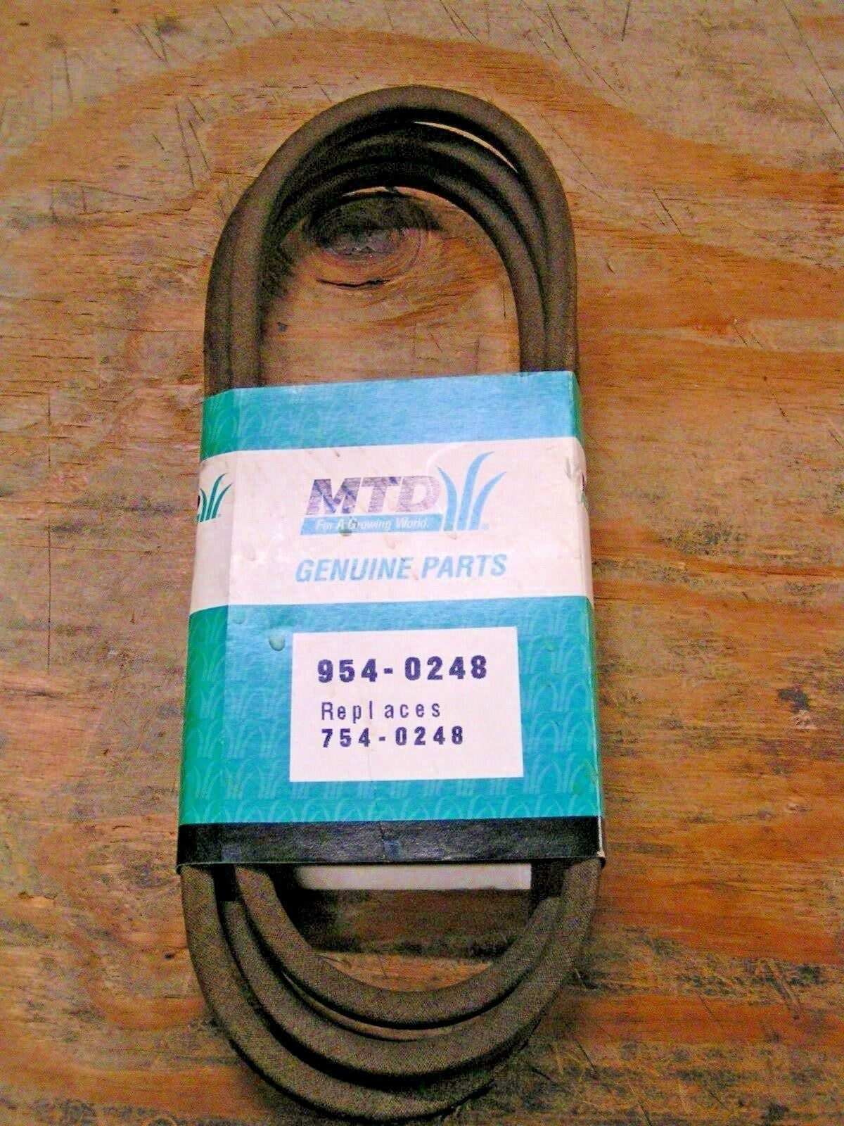 Los productos de la correa de tipo V MTD-Original Equipment Manufacturer parte  754-0248 - nuevo OEM pieza de servicio