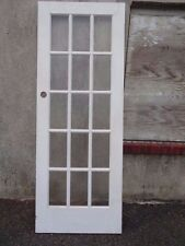 """SINGLE 15 Light  SOLID WOOD French Door 30"""" X 80"""" X 1 3/8"""" Primed White"""