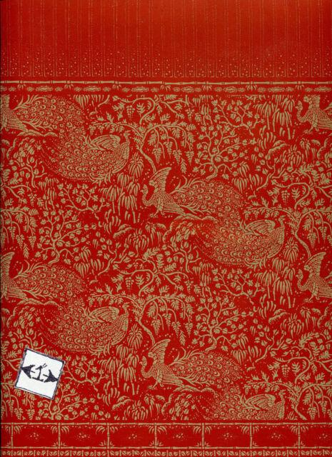 """/""""Renaissance/"""" red /& gold Jackson/'s Miniatures dollhouse wallpaper 1pc JM79"""