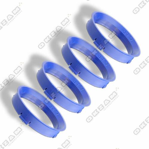 4 COPRIRUOTE Distanziatore Bicchiere anelli per cerchioni in alluminio Blu-Ø 66,6 mm-Ø 57.1 mm
