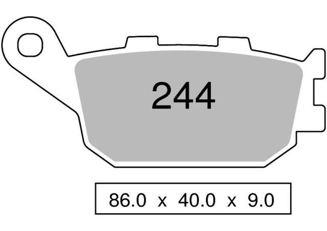 Couple plaquettes de frein arrière organique HONDA 500 CBF 500 2004  202 TROFEO