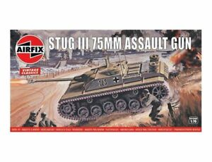 Airfix Vintage Classics STUG III 75 mm Assault Gun 1:76 Model Kit