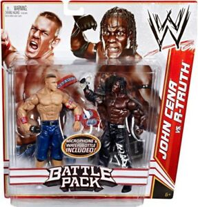 Wwe Wrestling Series 13 Vs John Cena.   Lot de 2 figurines d'action R-Truth