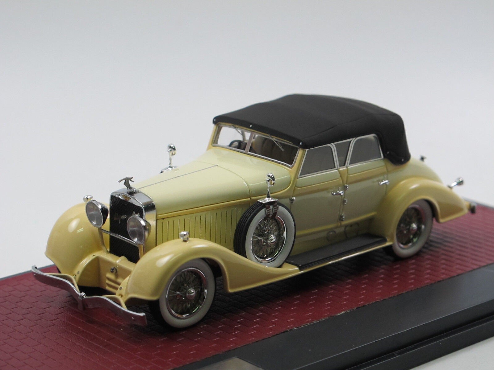 Matrice 1928 HISPANO-SUIZA h6c Closed Convertible by Hibbard & Darrin Cream 1 43