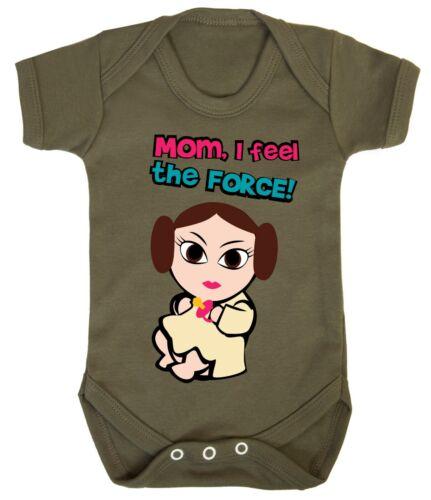 Baby Leia Star Wars Prinzessin Mädchen Body Strampler Spielanzug Geschenk