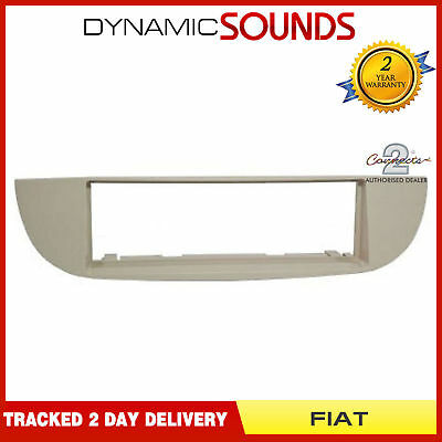 Fiat 500 2007 /> Type 312 Single Din Black Fascia Panel Adaptor Surround Stereo