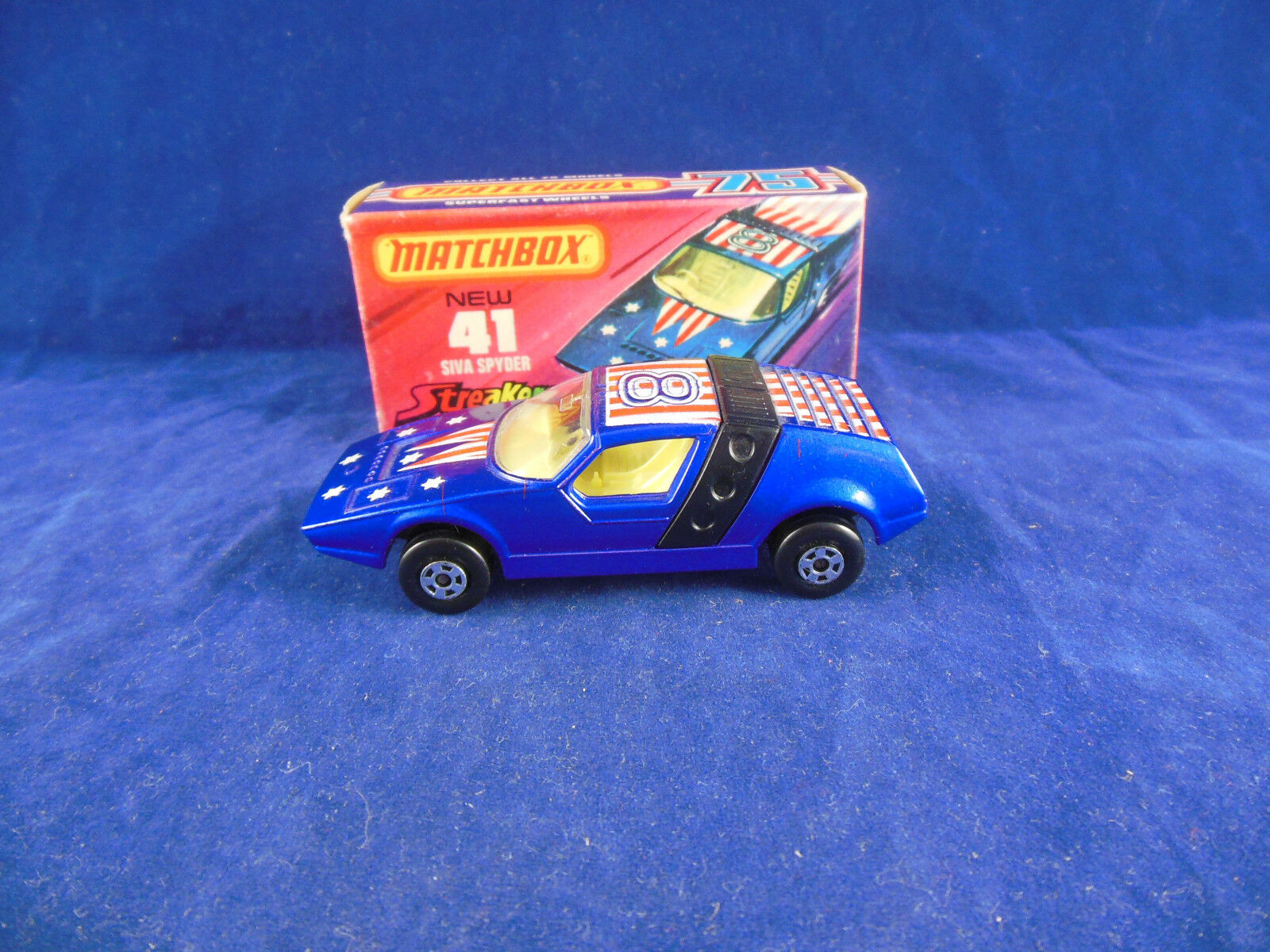 Matchbox Superfast MB - 41 41 41 b Siva Spyder Streakers in Dark Metallic bluee RN 8 f8c93c