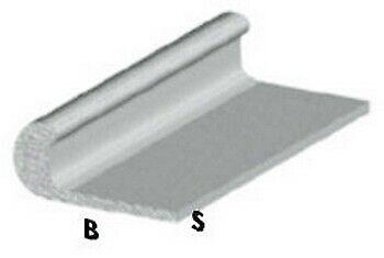 in alluminio profilo piatto Asta piatta in alluminio rivestita in poliuretano Grigio in acciaio piatto