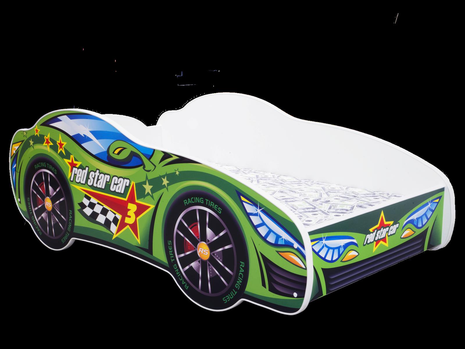 Lit Enfant Bébé VOITURE auto 140x70 + MATELAS - NEUF