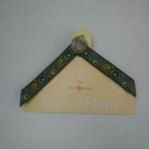 Lindsay Phillips Interchangeable Straps Switch Flops Size S 5 -6 Poppy