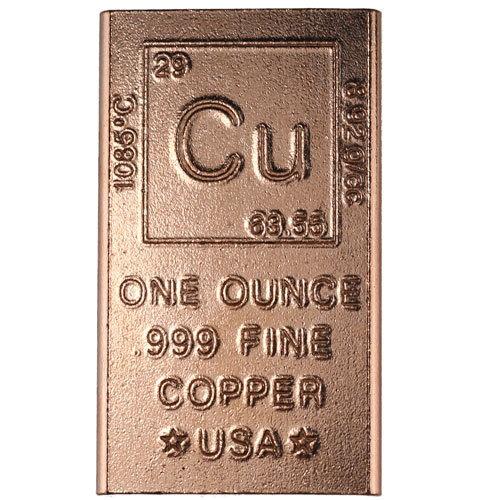 1 oz Copper Bar Elemental