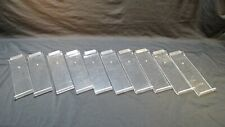 Acrylic Slatwall Angled Shelves Clear Display Shoes Retail 4 X 12 Lot Of 10