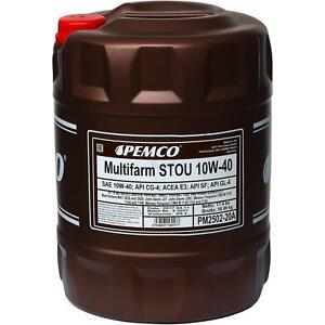 20-Liter-ORIGINAL-PEMCO-SAE-10W-40-Multifarm-STOU-Motoroel-Engine-Oil-Ol