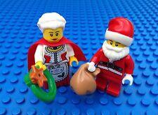 Lego New Santa & Mrs Claus Xmas Christmas Minifig Town City Reef Toy Bag 10245