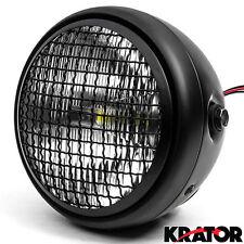 "7"" Black LED Headlight w/ Running Light For Kawasaki Vulcan Classic Custom 900"