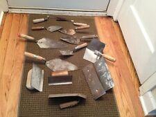 Vintage Cement Concrete Hand Tools Amp Trowels Lot Of 14 Pcs