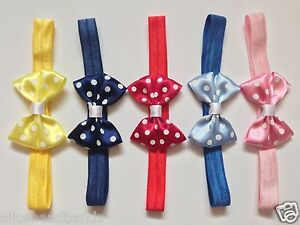 Polka-Dot-Satin-Bow-Headband-Baby-Girl-Headbands-Newborn-Toddler-Girls-Lot