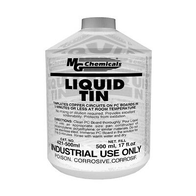 MG Chemicals 421-500ML Liquid Tin 500ml Bottle NEW!!!