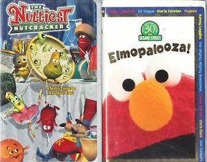 Details about The Nuttiest Nutcracker & Elmopalooza - 2 Animated Children &  Family VHS Tapes