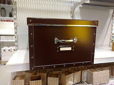 IKEA Fjälla Box +Deckel Boxen Lagerbox Regal Kiste 40x56x28 cm braun Kassett