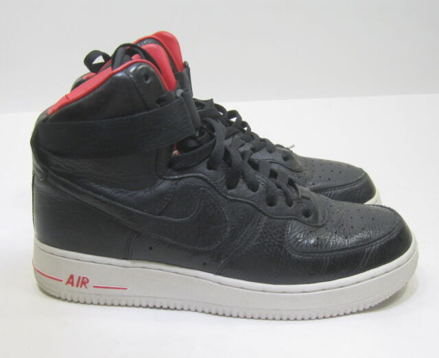 big sale bdd42 385ea Nike Air Force 1 High Premium Lebron James Black White 386161-009 Size 8