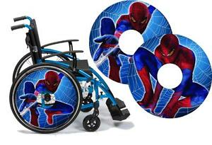Image is loading Wheelchair -Spoke-Guard-Skins-SPIDERMAN-Custom-Designs-Personalised-  sc 1 st  eBay & Wheelchair Spoke Guard Skins SPIDERMAN Custom Designs Personalised ...