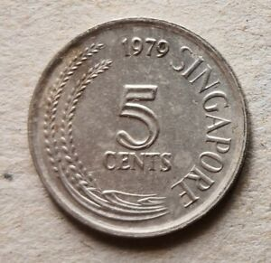 Singapore 1979 1st Series 5 cents coin