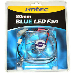 Antec-Triple-Blue-LED-Transparent-80-x-80-x-25-mm-Luefter