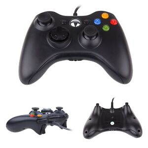 Details about XBOX 360 Controller wired USB Joypad for Microsoft XBOX 360  PC Windows Black